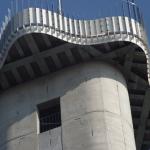 Aussichtsturm Teichland Plattform Bauphase