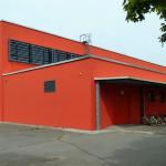 Multifunktionshalle L.-Leichhardt-Gym. Südost-Perspektive