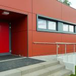 Sporthalle Grundschulzentrum Sielow Hintereingang