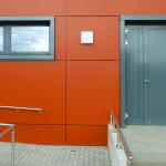 Sporthalle Grundschulzentrum Sielow Nebeneingang Rückseite